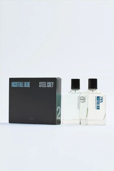 NIGHTFALL BLUE + STEEL GREY 100 ML زارا ZARA پک عطر مردانه
